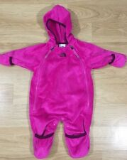 The North Face Baby Bunting Fleece Baby Toddler size 0-3 Months Pink