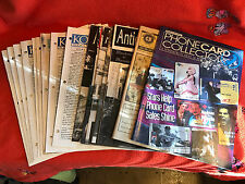 Lot Of 16 Collector Newletters Magazines Kovels Antiquing America Phone Cards ++