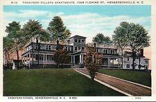 Fassifern School, Hendersonville, North Carolina, NC --- Old Vintage Postcard