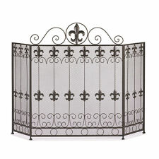 french fireplace screens. Fireplace Screen French Revival Fleur De Lis Iron New10015400 Country Screens  Doors eBay