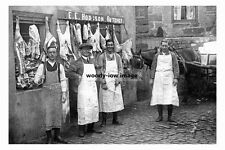 pt4030 - E E Hodgson Butcher , Staithes , Yorkshire - photo 6x4
