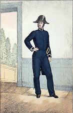 OFFICIER de PAIX (GENDARMERIE) sous LOUIS PHILIPPE - Gravure du 19eme siècle
