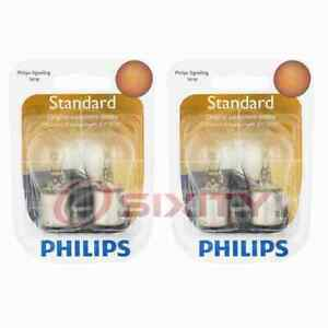2 pc Philips Brake Light Bulbs for Cadillac BLS 2007-2008 Electrical dk