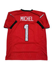 Sony Michel Georgia Bulldogs Signed Custom Red Jersey Beckett COA w Rose MVP
