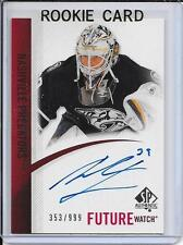 10-11 SP Authentic Anders Lindback Future Watch Rookie Auto # 269