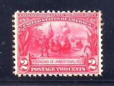 US Stamps - #329 - MH  - 2 cent Jamestown Expo Issue - CV $30