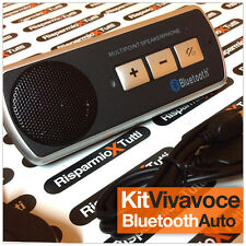 VIVAVOCE BLUETOOTH KIT SENZA FILI UNIVERSALE PER AUTO UNIVERSALE SMARTPHONE