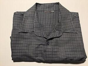 Kathmandu Mens Grey Long Sleeve Checkered  Shirt Top Size XL Ultralight Soft
