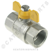 """CPUK BF05 1"""" INCH FEMALE TO 1"""" INCH FEMALE BSP TAPER BUTTERFLY SHUT OFF VALVE"""