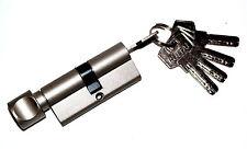 80mm Cylindre à bouton Cylindre Européen Serrure à barillet avec 5 clefs