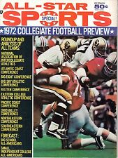 1972 All-Star Sports Special Football magazine, Collegiate Football Preview ~ VG