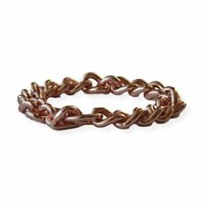 """Solid Copper Non Magnetic Men""""s  Chain Bracelet Relieves Joint Pain 7.5""""- 8.5"""""""