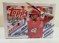 2021 New Sealed  MLB Topps Series 1 Baseball 7 Pack Blaster Box with Memorabilia