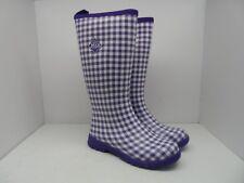 Muck Boots Women's Breezy Tall Insulated Rain Boot BZT-5GHM Purple Gingham 10M