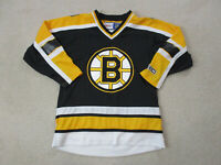 Reebok Boston Bruins Hockey Jersey Youth Extra Large Black Yellow Kids Boys *