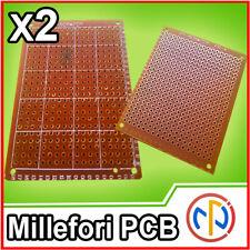2X BASETTA MILLEFORI PCB SCHEDA 5x7CM costruzione prototipi