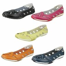 Ladies Down To Earth Flat Slip On 'Pumps'