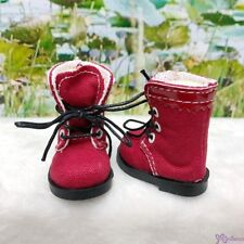 Mimiwoo Yo SD 1/6 BJD Doll Shoes Cloth Boots Red (for Foot 4.5cm long)