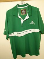 Men's Authentic GUINNESS Rugby Jersey Polo Shirt Medium Green Irish Excellent