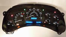 7E) 03-04 2003-2004 Custom Black Gauge White Led Silverado Replacement Cluster