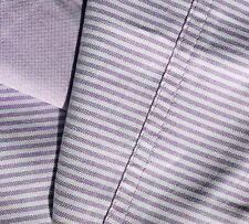 "RALPH LAUREN Pillow sham 100% cotton OXFORD Stripe LAVENDER + WHITE 20"" x 31.5"""