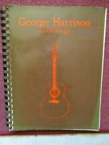 Vintage 1981 George Harrison Anthology songbook piano guitar Beatles music book