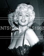 BUSTY BIG BREASTS JAYNE MANSFIELD  1960s 8X10 PHOTO FROM ORIGINAL NEG-1
