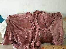 Pink Long Velvet Curtains Pair Height 2m Width 2m Fabric