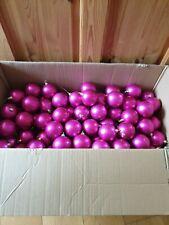 Trabajo al por mayor Lote 100+ Rosa 70mm pantalla bolas de navidad ex-Artesanía