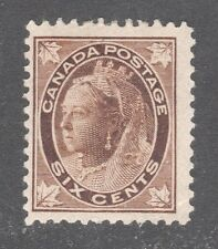 CANADA STAMP #71   --- 6c QUEEN & LEAF - 1897 - UNUSED