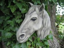 Horse wall plaque stone garden ornament (F) | Many more ornaments in my shop!