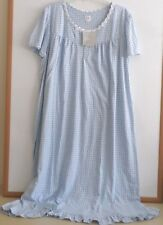 NWT ARIA LONG NIGHTGOWN-SIZE 2X-SHORT SLEEVE-BLUE FLORAL PRINT-$60-BEAUTIFUL!