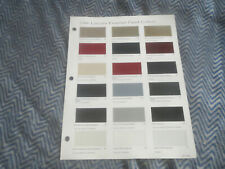 1998 LINCOLN CONTINENTAL TOWN CAR NAVIGATOR COLOR CHIPS CHART BROCHURE FLYER