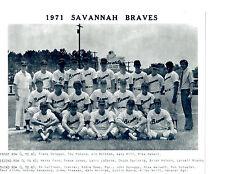 1971 SAVANNAH BRAVES 8X10 TEAM PHOTO ATLANTA   BASEBALL GEORGIA USA