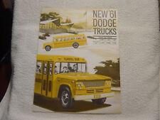 DODGE 1961 TRUCK SCHOOL BUS CHASSIS SALES BROCHURE