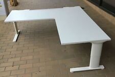 30 x Schiavello Adjustable Height Exec L-Shaped Desks Aluminium Base RRP $50,000