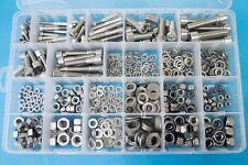 540pc M6 M8 M10 M12 Stainless Socket Cap Screws / Allen Bolt Kit inc Nuts,Washer
