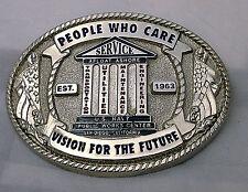U.S. Navy Public Works Center Custom Belt Buckle (Solid Brass, Silver)