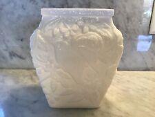 Antique Opalescent Milk Glass Rose Vase