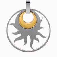 CEM Edelstahl Anhänger Schmuck Symbol Sonne Edelstahl bicolor 4-105866-001