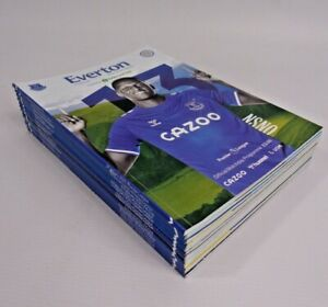 Everton Football Club Premier League FA Cup 2021 Official Match Day Programmes