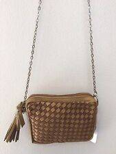 NEW & TAG WEAVED SPORTSGIRL SMALL HAND BAG HANDBAG BROWN GIRLS LADIES GIFT