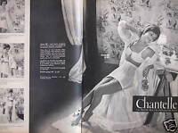 PUBLICITÉ 1960 CHANTELLE LA GAINE QUI NE REMONTE PAS SOUTIEN-GORGE -ADVERTISING