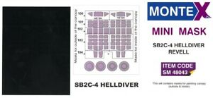 Montex 1/48 CURTISS SB2C-4 HELLDIVER CANOPY PAINT MASK Revell