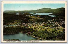 Aerial View of Saranac Lake from Mt. Baker in the Adirondacks New York Postcard
