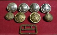 Vintage Soviet military set of 6 buttons of the ussr naval forces