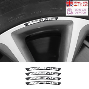 AMG Brabus Mercedes Wheel Badges x4 Black
