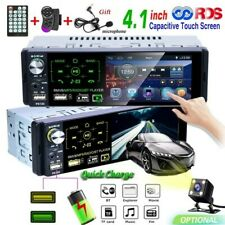 1 Din 4.1'' Car Radio Bluetooth Car MP5 Player Touch Screen FM AM RDS USB AUX TF