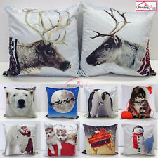 New Printed Xmas Christmas Cushion Covers, 43x43 cm, 17 x 17 inches Santa Gift