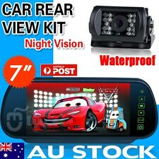 "Car Bus Rear View Kit 7"" LCD Mirror Monitor + Reverse IR Reversing Camera 12-24V"